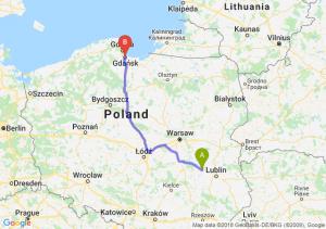 Trasa Puławy - Gdańsk