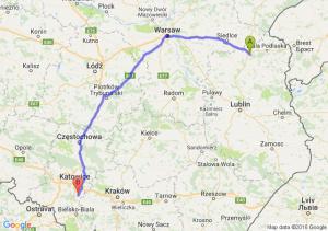 Międzyrzec Podlaski (lubelskie) - Bieruń (śląskie)