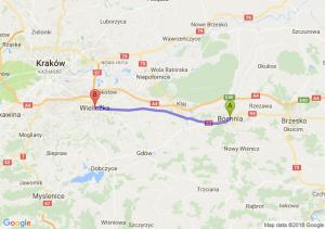 Trasa Bochnia - Wieliczka