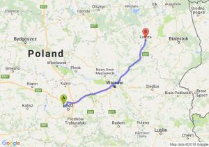 Trasa Aleksandrów Łódzki - Łomża