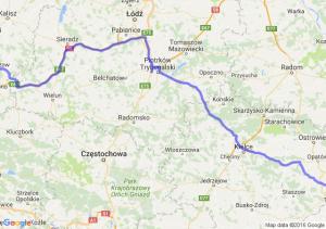 Ostrzeszów (wielkopolskie) - Koprzywnica (świętokrzyskie)