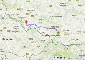 Trasa Andrychów - Kłodzko