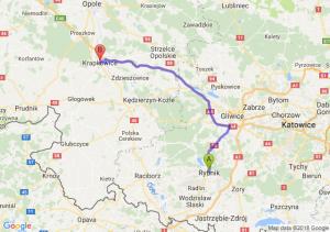 Trasa Rybnik - Krapkowice