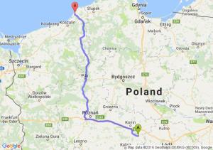 Turek (wielkopolskie) - Darłowo (zachodniopomorskie)
