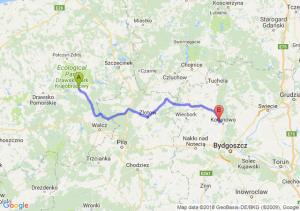 Trasa Czaplinek - Koronowo