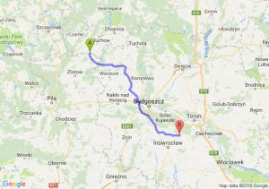 Debrzno (pomorskie) - Gniewkowo (kujawsko-pomorskie)