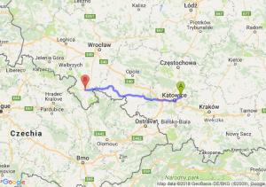Trasa Dąbrowa Górnicza - Kłodzko