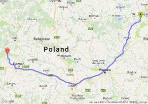 Rajgród (podlaskie) - Wronki (wielkopolskie)