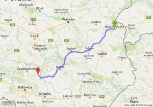 Trasa Biała Podlaska - Lelów