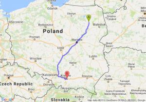 Stawiski (podlaskie) - Wieliczka (małopolskie)