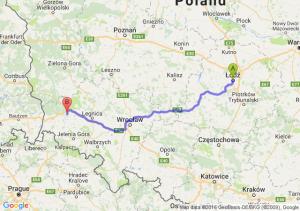 Łódź (łódzkie) - Bolesławiec (dolnośląskie)