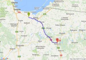 Trasa Nowy Dwór Gdański - Olsztynek