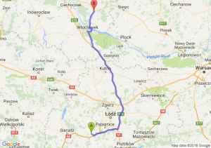 Trasa Łask - Lipno