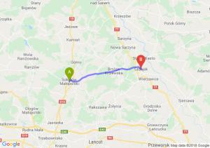 Trasa Sokołów Małopolski - Leżajsk