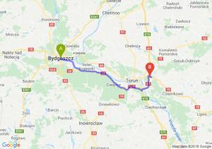 Trasa Bydgoszcz - Lubicz Dolny