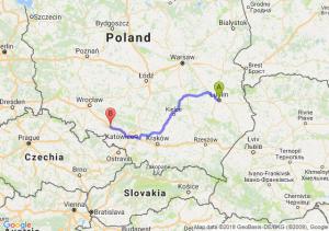 Trasa Lublin - Dąbrówka Górna