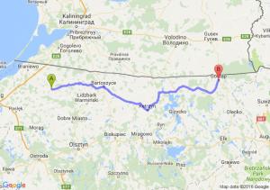 Pieniężno (warmińsko-mazurskie) - Gołdap (warmińsko-mazurskie)