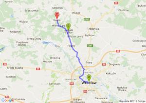 Wroclaw - Oborniki Śląskie (dolnośląskie) - Osolin (dolnośląskie)