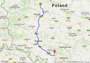 Wągrowiec (wielkopolskie) - Strzelce Opolskie (opolskie)