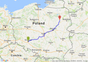 Trasa Wrocław - Łomża