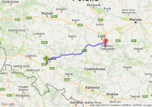 Trasa Biskupice Podgórne - Srock