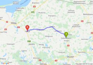 Trasa Dobre Miasto - Pasłęk