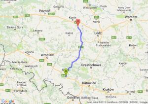 Trasa Dąbrówka Górna - Turek