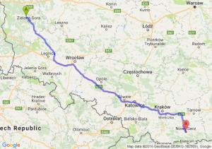 Czerwieńsk (lubuskie) - Nowy Sącz (małopolskie)