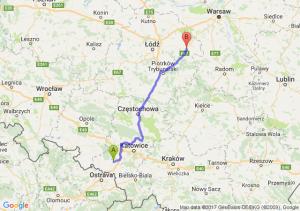 Trasa Rybnik - Rawa Mazowiecka
