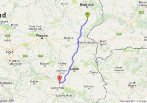 Bielsk Podlaski (podlaskie) - Annopol (lubelskie)