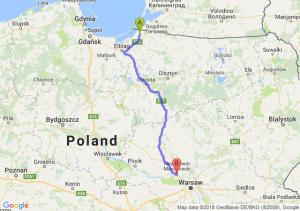 Trasa Braniewo - Kazuń Nowy