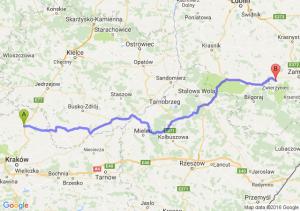 Miechów (małopolskie) - Szczebrzeszyn (lubelskie)