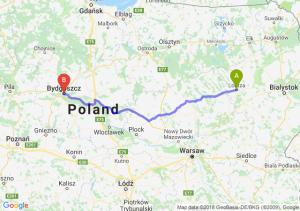 Trasa Łomża - Bydgoszcz