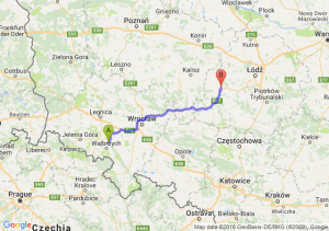 Trasa Świebodzice - Sieradz