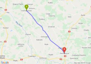Trasa Ciechanowiec - Siemiatycze