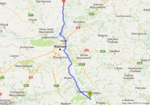 Trasa Bąkowiec - Maków Mazowiecki