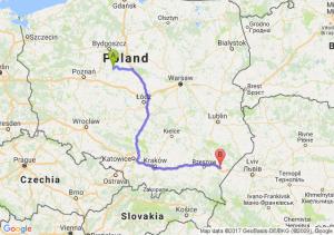 Trasa Strzelno - Jarosław