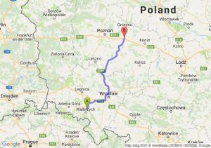 Trasa Świebodzice - Września