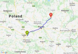Trasa Brzeziny - Ostrów Mazowiecka