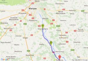 Góra Kalwaria - Magnuszew (mazowieckie) - Kozienice (mazowieckie)