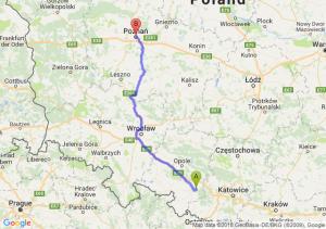 Trasa Kędzierzyn-Koźle - Poznań