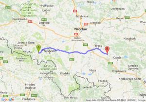 Trasa Kamienna Góra - Skorogoszcz