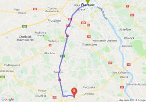 Trasa Warszawa - Słomczyn