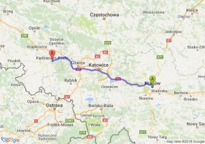 Trasa Kraków - Kędzierzyn-Koźle