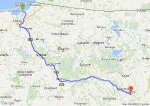 Tolkmicko (warmińsko-mazurskie) - Łomża (podlaskie)