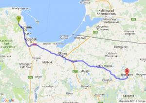 Reda (pomorskie) - Biskupiec (warmińsko-mazurskie)