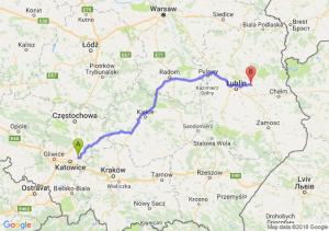 Trasa Dąbrowa Górnicza - Łęczna