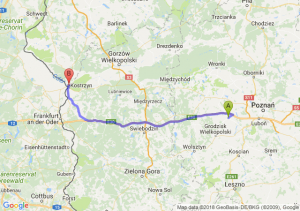 Trasa Buk - Kostrzyn nad Odrą