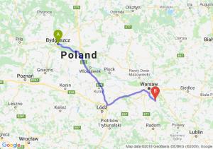 Trasa Bydgoszcz - Góra Kalwaria