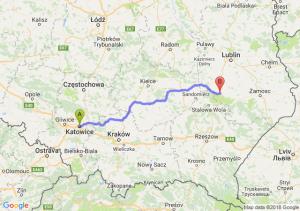 Trasa Katowice - Modliborzyce